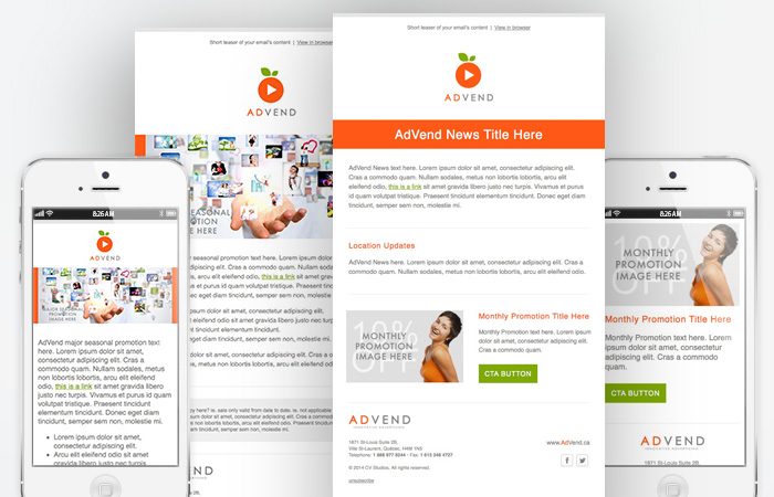 responsive email and newsletter design
