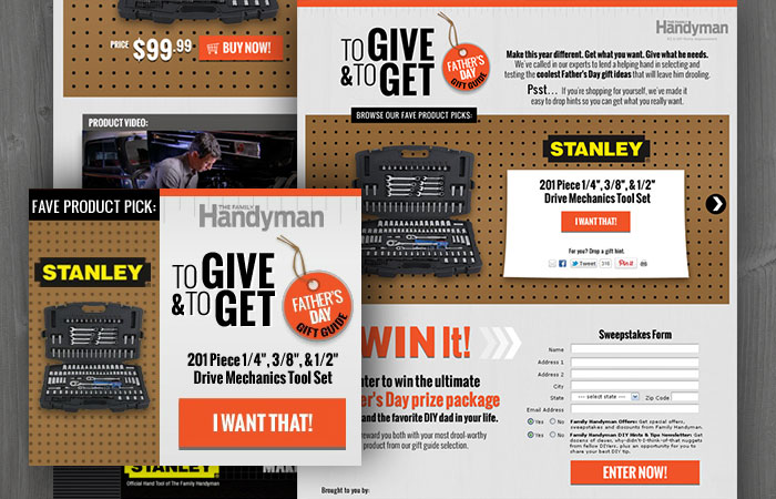 web design for sweepstakes